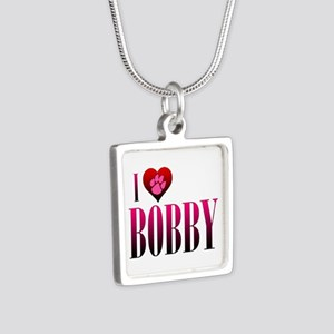 I Heart Bobby Silver Square Necklace