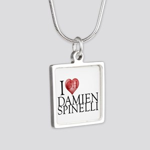 I Heart Damien Spinelli Silver Square Necklace