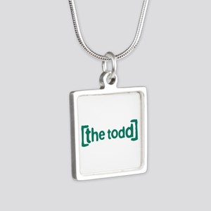 The Todd Silver Square Necklace