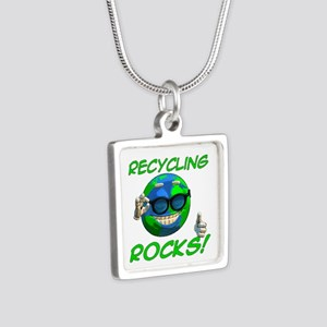Recycling Rocks! Silver Square Necklace