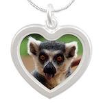 Lemur Silver Heart Necklace
