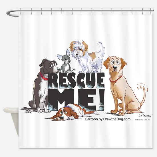 Unique Dog adoption Shower Curtain