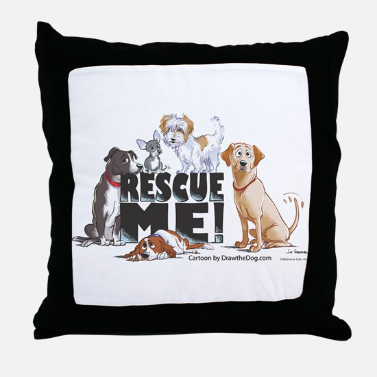 Cute Dog rescue Throw Pillow