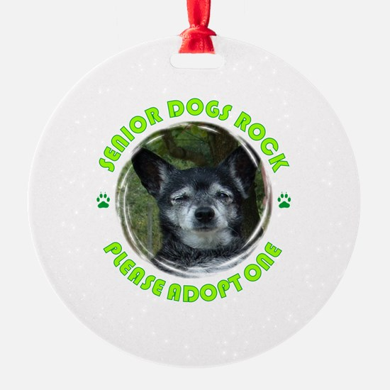 Adopt A Senior Dog Ornament