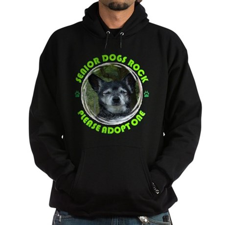 Adopt A Senior Dog Hoodie (dark)