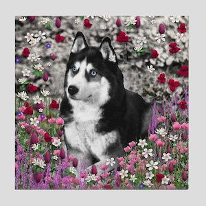 Irie in Flowers Tile Coaster