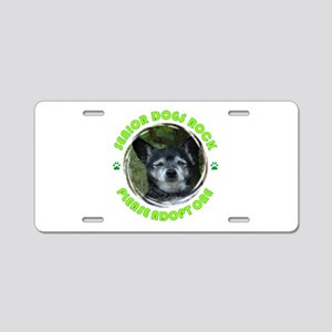 Adopt A Senior Dog Aluminum License Plate