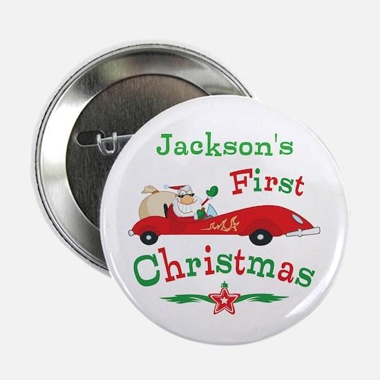 """Custom 1st Christmas 2.25"""" Button"""
