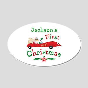 Custom 1st Christmas 20x12 Oval Wall Decal