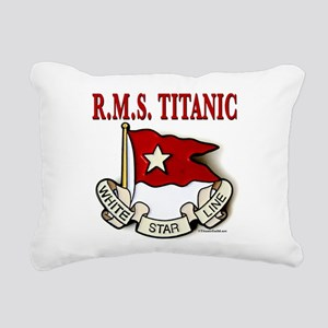 White Star Line (white) Rectangular Canvas Pillow