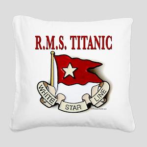 White Star Line (white) Square Canvas Pillow