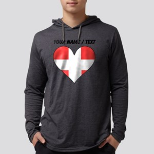 Custom Switzerland Flag Heart Mens Hooded Shirt