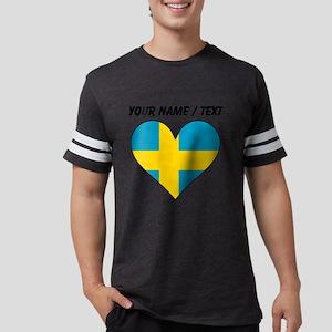 Custom Sweden Flag Heart Mens Football Shirt