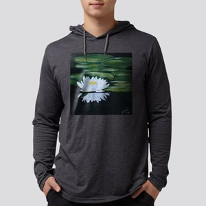 Water Lily Mens Hooded Shirt