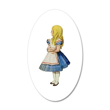 Alice in Wonderland 35x21 Oval Wall Decal