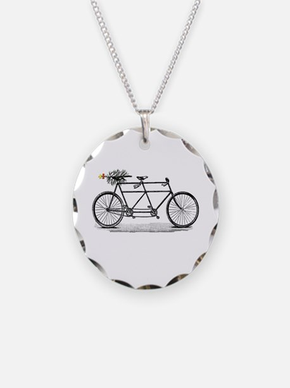 Tandem Bike Christmas Necklace