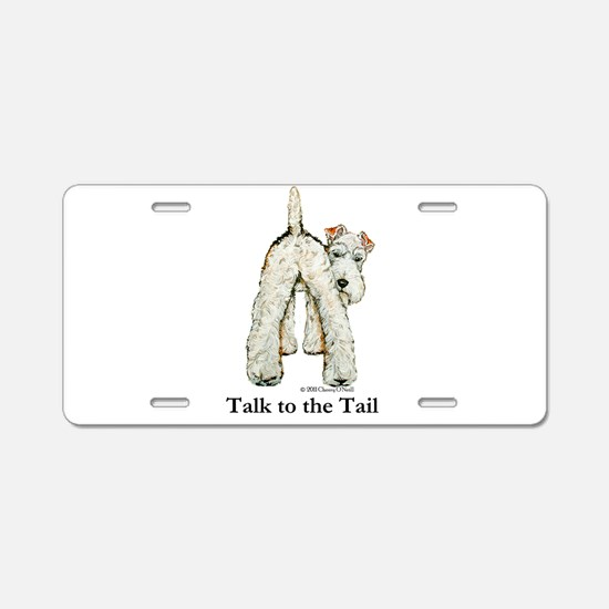 Wire Fox Terrier Tail WFT Aluminum License Plate