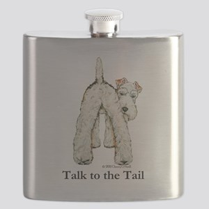 Wire Fox Terrier Tail WFT Flask