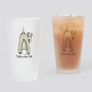 Wire Fox Terrier Tail WFT Drinking Glass