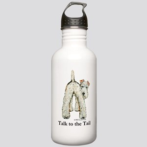 Wire Fox Terrier Tail WFT Stainless Water Bottle 1