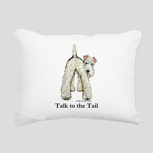 Wire Fox Terrier Tail WFT Rectangular Canvas Pillo