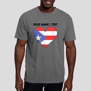 Custom Puerto Rico Flag  Mens Comfort Colors Shirt