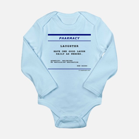 Laughtees Laughter Prescription Label Long Sleeve