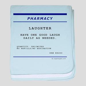 Laughtees Laughter Prescription Label baby blanket