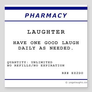 Laughtees Laughter Prescription Label Square Car M