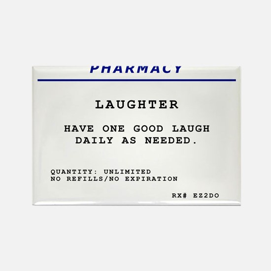 Laughtees Laughter Prescription Label Rectangle Ma