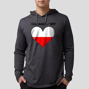 Custom Poland Flag Heart Mens Hooded Shirt