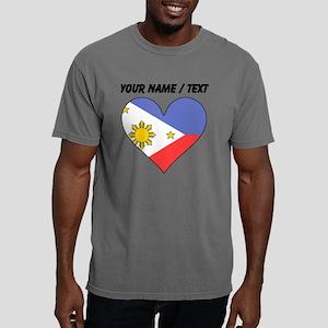 Custom Philippines Flag  Mens Comfort Colors Shirt