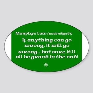 murphyslaw Sticker (Oval)