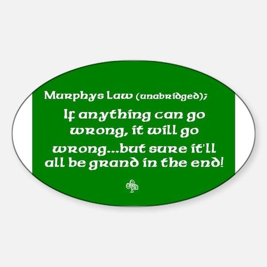murphyslaw Sticker (Oval)
