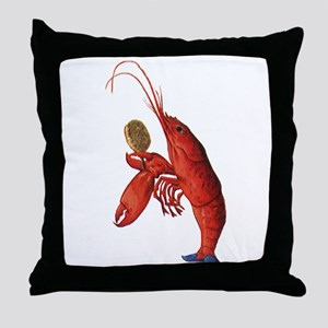 The Lobster-Quadrille Throw Pillow