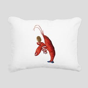 The Lobster-Quadrille Rectangular Canvas Pillow