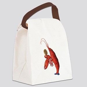 The Lobster-Quadrille Canvas Lunch Bag