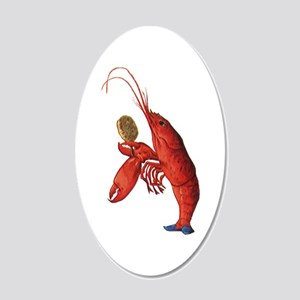 The Lobster-Quadrille 20x12 Oval Wall Decal
