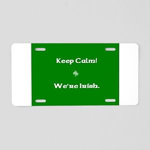 keepcalmcafe Aluminum License Plate