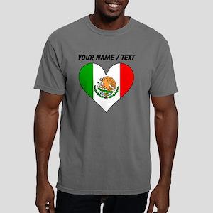 Custom Mexico Flag Heart Mens Comfort Colors Shirt