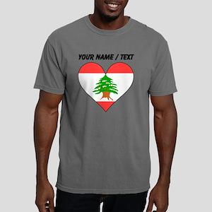 Custom Lebanon Flag Hear Mens Comfort Colors Shirt