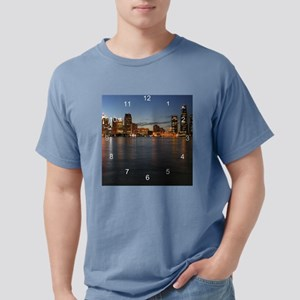 DetroitSkyline clock Mens Comfort Colors Shirt