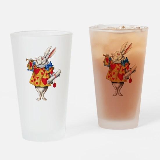 Alice's White Rabbit Drinking Glass