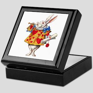 Alice's White Rabbit Keepsake Box