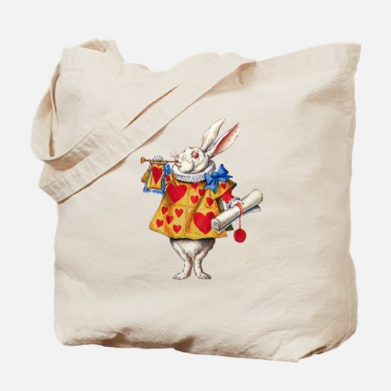 Alice's White Rabbit Tote Bag