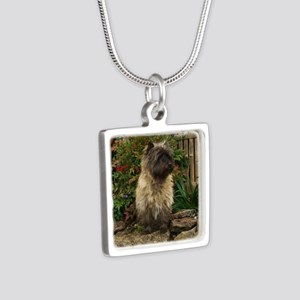 Cairn Terrier Silver Square Necklace