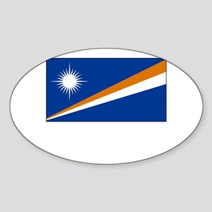 The Marshall Islands Flag Picture Oval Sticker