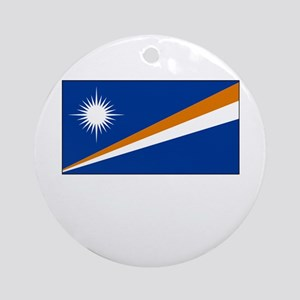 The Marshall Islands Flag Picture Ornament (Round)
