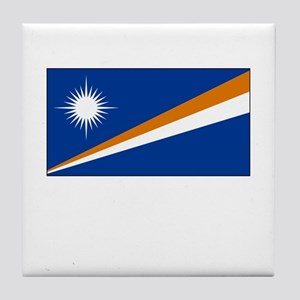 The Marshall Islands Flag Picture Tile Coaster