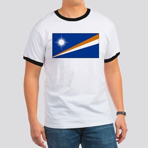 The Marshall Islands Flag Picture Ringer T